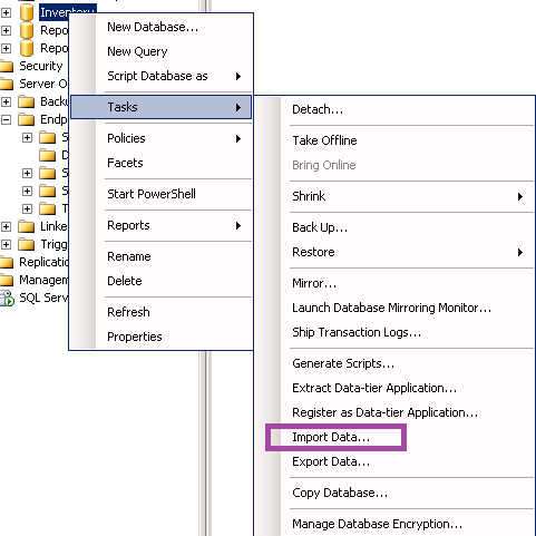 how to put data into sqp
